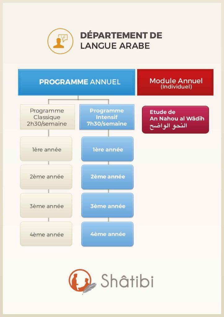 organigramme du département langue Arabe
